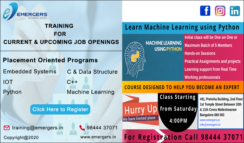 Embedded Systems training in Bangalore | Python training in